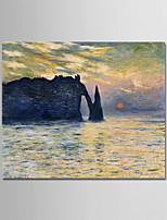 abordables -Peinture à l'huile Hang-peint Peint à la main - Célèbre / Paysage Moderne Toile