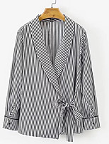 Недорогие -Жен. Рубашка Классический Горошек / Полоски