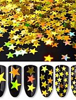 Недорогие -Блеск Пайетки Глянцевый / Экологичные / Тонкий дизайн Тату с цветами Романтическая серия маникюр Маникюр педикюр Позолота / ПВХ Стиль / гипербола Рождество / Повседневные / Маскарад