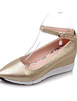 Недорогие -Жен. Комфортная обувь Полиуретан Весна Обувь на каблуках Туфли на танкетке Золотой / Серебряный / Розовый