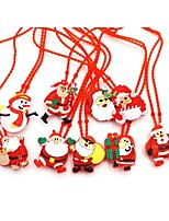 baratos -1 pc crianças led brilho colar de brinquedo luminosa série de natal árvore de natal iluminação piscando pingente enfeites de bebê colar de brinquedo presentes aleatórios