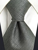 baratos -Homens Trabalho / Básico Gravata Sólido / Jacquard
