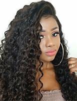 Недорогие -Remy Полностью ленточные Парик Бразильские волосы Глубокий курчавый Парик Боковая часть 130% Плотность волос Модный дизайн Для вечеринок Женский Нейтральный Жен. Средняя длина