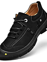 Недорогие -Муж. Кожаные ботинки Кожа Осень Винтаж / На каждый день Туфли на шнуровке Сохраняет тепло Черный / Коричневый