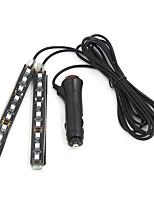 Недорогие -2pcs Мотоцикл / Автомобиль Лампы 6 W SMD 5050 400 lm 9 Светодиодная лампа Внутреннее освещение Назначение Универсальный Универсальный Все года / Универсальный