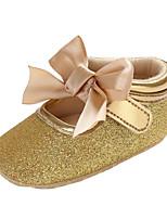 Недорогие -Девочки Обувь ПВХ Наступила зима Удобная обувь / Обувь для малышей Ботинки Бант / Пряжки / На липучках для Дети Черный / Серебряный / Розовый