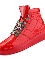 Недорогие -Муж. Комфортная обувь Полиуретан Осень На каждый день Кеды Нескользкий Белый / Черный / Красный