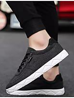 Недорогие -Муж. Комфортная обувь Лён Весна лето Кеды Белый / Черный / Серый