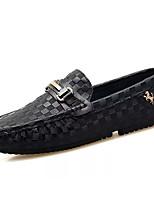 Недорогие -Муж. Комфортная обувь Микроволокно Лето Мокасины и Свитер Черный / Синий