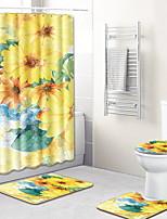 abordables -1 set Dessin Animé Tapis Anti-Dérapants Polyester Elastique Tissé 100g / m2 Créatif / A Fleur Rectangle Salle de Bain Design nouveau