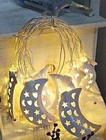 abordables -3M Guirlandes Lumineuses 10 LED Blanc Chaud Décorative Piles AA alimentées 1 set