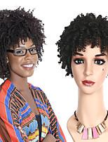 abordables -Perruque Synthétique Bouclé Coupe Carré Cheveux Synthétiques 8 pouce Soirée / Classique / Homme Noir Perruque Femme Court Sans bonnet Noir
