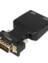 abordables -yongwei vga vers hdmi adaptateur 1080p vga mâle vers hdmi femelle convertisseur audio / vidéo pour ordinateur de bureau ordinateur portable moniteur moniteur hdtv