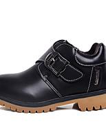 abordables -Fille Chaussures Maille / Polyuréthane Printemps & Automne / Printemps été Confort / boîtes de Combat Bottes Marche Boucle / Combinaison pour Enfants Noir / Marron / Bottine / Demi Botte