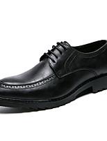 baratos -Homens Sapatos Confortáveis Couro Ecológico Outono Negócio Oxfords Não escorregar Preto / Cinzento