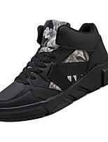 Недорогие -Муж. Комфортная обувь Полиуретан Осень Кеды Черный / Зеленый