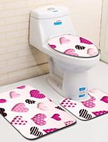 Недорогие -3 предмета Modern Коврики для ванны 100 г / м2 полиэфирный стреч-трикотаж Геометрический принт нерегулярный Ванная комната Cool