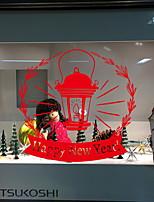 Недорогие -Оконная пленка и наклейки Украшение Рождество Праздник ПВХ Стикер на окна / Водоотталкивающие