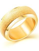 Недорогие -Муж. Классический Кольцо - Титановая сталь Стиль, Простой, Классика Золотой Назначение Свидание Для улицы
