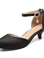 Недорогие -Жен. Комфортная обувь Полиуретан Лето Обувь на каблуках На низком каблуке Золотой / Черный / Лиловый