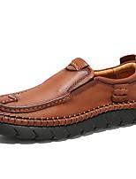 abordables -Homme Chaussures Formal Cuir Nappa Automne Rétro / Décontracté Mocassins et Chaussons+D6148 Massage Noir / Marron