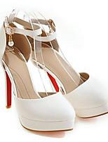Недорогие -Жен. Комфортная обувь Лакированная кожа Весна Обувь на каблуках На шпильке Белый / Черный / Красный