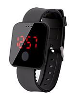 Недорогие -Муж. электронные часы Цифровой 30 m Защита от влаги ЖК экран силиконовый Группа Цифровой На каждый день Мода Черный / Белый / Красный - Красный Зеленый Синий