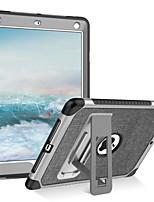 Недорогие -BENTOBEN Кейс для Назначение Apple iPad (2018) / iPad (2017) Защита от удара / со стендом Чехол Однотонный Мягкий Кожа PU / ТПУ / ПК для iPad (2018) / iPad Air 2 / iPad (2017)