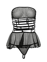 abordables -Costumes Vêtement de nuit Femme - Dentelle / Maille, Couleur Pleine
