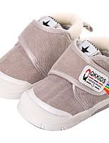 Недорогие -Мальчики / Девочки Обувь Замша Зима Удобная обувь / Обувь для малышей Ботинки для Дети (1-4 лет) Серый / Коричневый / Розовый