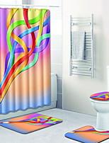 Недорогие -1 комплект Modern Коврики для ванны 100 г / м2 полиэфирный стреч-трикотаж Креатив Прямоугольная Ванная комната Новый дизайн