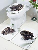 Недорогие -3 предмета Modern Коврики для ванны 100 г / м2 полиэфирный стреч-трикотаж Геометрический принт нерегулярный Ванная комната Милый
