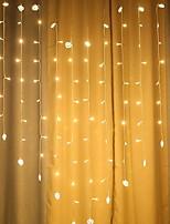 billiga -2m Ljusslingor 138 lysdioder Varmvit Dekorativ 220-240 V 1set