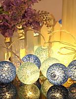 abordables -1.2m Guirlandes Lumineuses 10 LED Bleu Décorative Piles AA alimentées 1 set