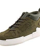 Недорогие -Муж. Комфортная обувь Замша Осень Спортивные / На каждый день Кеды Желтый / Кофейный / Военно-зеленный
