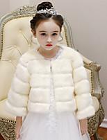 Недорогие -Длинный рукав Искусственный мех Свадьба / День рождения Детские накидки С Металлическая пряжка Жакет