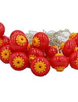 Недорогие -5 метров Гирлянды 40 светодиоды Красный Декоративная Аккумуляторы AA 1 комплект