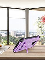 baratos -BENTOBEN Capinha Para Samsung Galaxy A8 2018 / A5 (2018) Antichoque / Com Suporte / Galvanizado Capa traseira Glitter Brilhante Rígida PU Leather / TPU / PC para A5(2018) / A5 (2017) / A8 2018