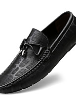 cheap -Men's Formal Shoes Nappa Leather Spring / Fall & Winter Casual / British Loafers & Slip-Ons Non-slipping Black / Brown