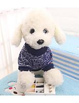baratos -Cachorros / Gatos Moletom Roupas para Cães Estampa Colorida / Simples Azul Escuro Têxtil Ocasiões Especiais Para animais de estimação Unisexo Comum / Lazer