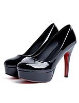 Недорогие -Жен. Балетки Лакированная кожа Весна Обувь на каблуках На шпильке Черный / Красный / Розовый