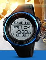 Недорогие -SKMEI Муж. Для пары электронные часы Цифровой 50 m Защита от влаги Календарь Хронометр PU Группа Цифровой На каждый день Мода Черный / Синий / Цвет клевера - Черный Зеленый Синий
