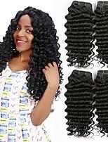 abordables -Lot de 4 Cheveux Vietnamiens Ondulation profonde 8A Cheveux Naturel humain Tissages de cheveux humains Extension Bundle cheveux 8-28 pouce Couleur naturelle Tissages de cheveux humains Homme