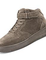 abordables -Homme Chaussures de confort Polyuréthane Automne Décontracté Basket Ne glisse pas Noir / Marron / Rouge