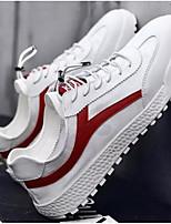 Недорогие -Муж. Комфортная обувь Микроволокно Весна & осень Кеды Черно-белый / Красный