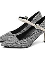 Недорогие -Жен. Комфортная обувь Лакированная кожа Осень Обувь на каблуках На шпильке Белый / Черный