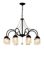 Недорогие -8-Light Мини Люстры и лампы Потолочный светильник Окрашенные отделки Металл Хрусталь 110-120Вольт / 220-240Вольт Лампочки не включены / FCC