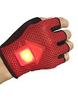 baratos -Luvas Esportivas Luvas de Ciclismo Respirável / Anti-Derrapante / Luzes LED piscando Sem Dedo Terylene / Silicone Ciclismo / Moto Homens / Mulheres