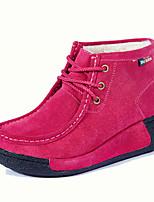 Недорогие -Жен. Комфортная обувь Замша Осень / Зима Спортивные / На каждый день Ботинки Микропоры Черный / Темно-синий / Пурпурный