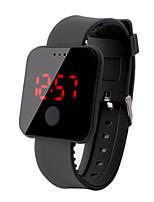 Недорогие -Муж. электронные часы Цифровой 30 m Защита от влаги ЖК экран Pезина Группа Цифровой Мода Цветной Черный / Белый / Синий - Красный Зеленый Синий